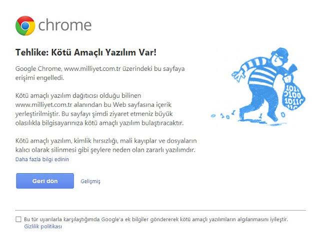 Google Webmaster Tools - Kötü Niyetli Yazılım