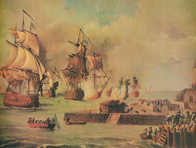 The Battle of Cartagena by Luis Fernández Gordillo