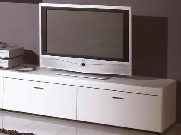 Meuble tv alinea blanc laqu meuble tv for Meuble tv alinea