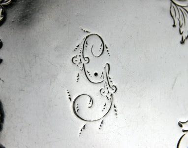 ANTIQUE 18thC GEORGIAN SOLID SILVER SALVER TRAY, JOHN HUTSON, LONDON c.1787