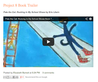 Blog Post - a book trailer for Pete the Cat: Rocking in My School Shoes by Eric Litwin