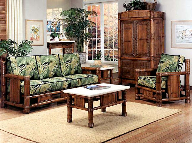 Conservatory style with bamboo furniture