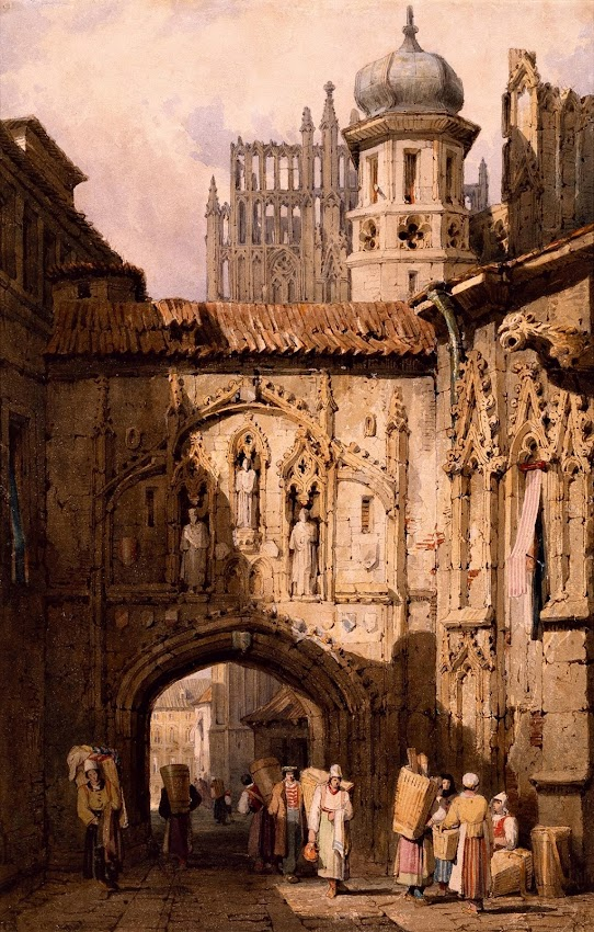 Samuel Prout - A View in Nuremberg
