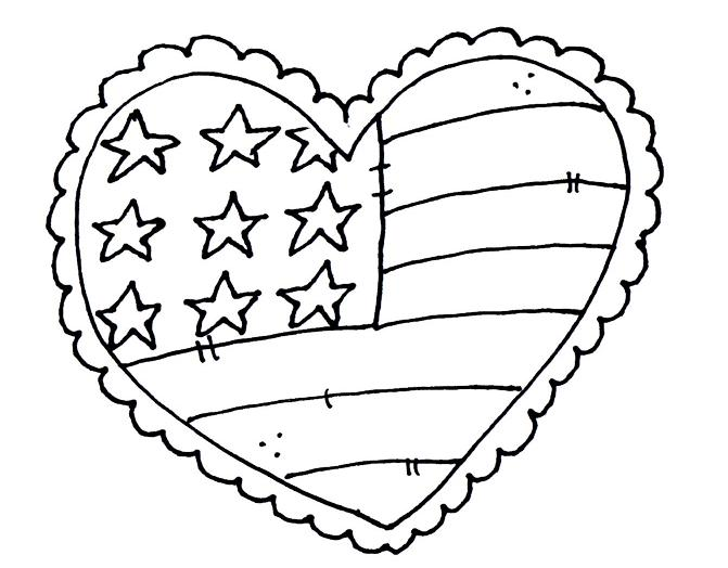 Scraphappy paper crafter free digis for wednesday for Flag heart coloring page