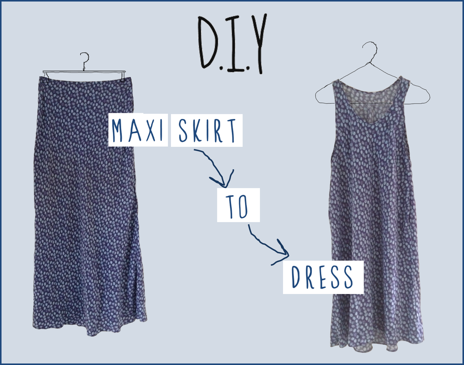 allurescent diy turn a maxi skirt into a dress in 3 easy