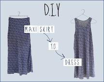 DIY Maxi Dress into a Skirt