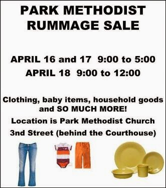 4-18 Park Methodist Rummage Sale