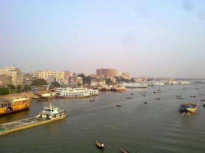 Burigonga River in Dhaka