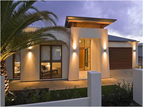 Small modern homes exterior views modern home designs for Pics of modern houses