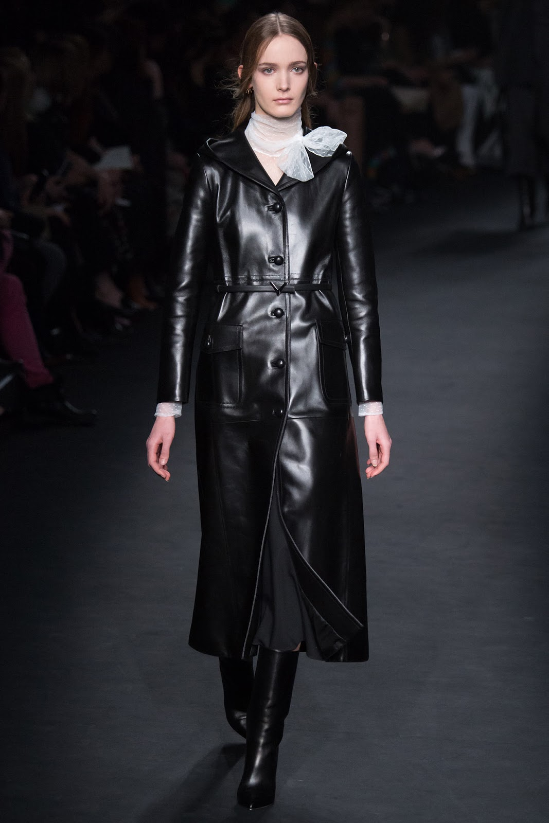 Trench coats as seen on a runway at Valentino Autumn/Winter 2015 via www.fashionedbylove.co.uk
