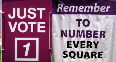 Dodgy party signs posing as official information in an election in Queensland Australia