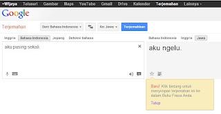 Yuk Belajar Bahasa Jawa dengan Google Translate