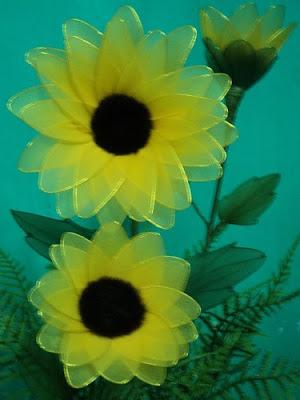 Hoa hướng dương bằng voan | Diễn đàn Hoa của Việt Nam