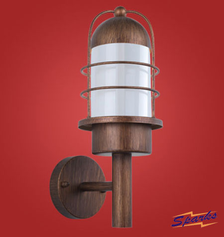 Minorca Wall Lamp for Outdoors in a Copper Finish