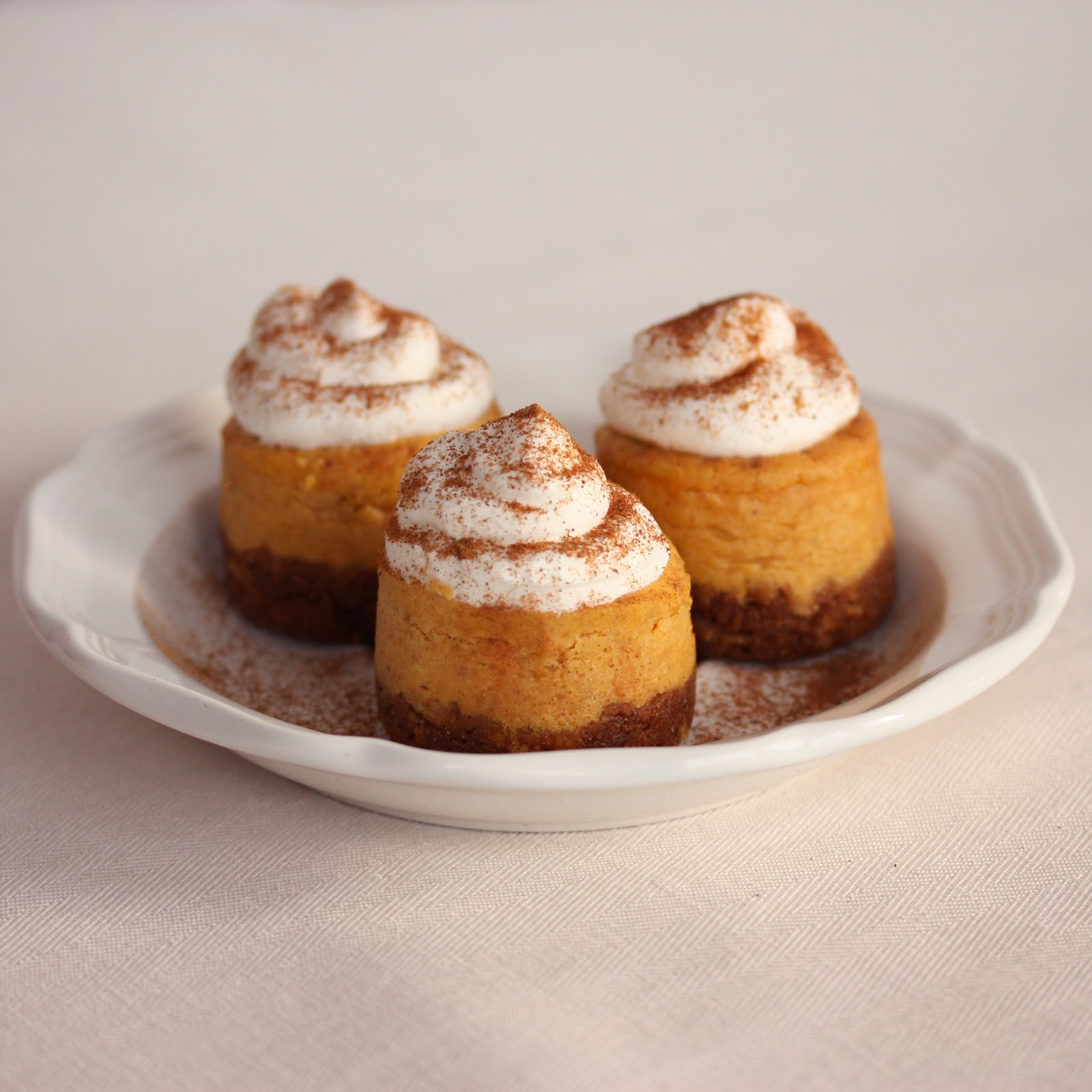 Sprinkle Charms: Mini Pumpkin Cheesecakes