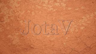 JotaV, em relevo, gravado em Argila-opacidade 115 do nome-opt