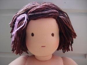 Как сделать волосы тряпичной кукле фото 747