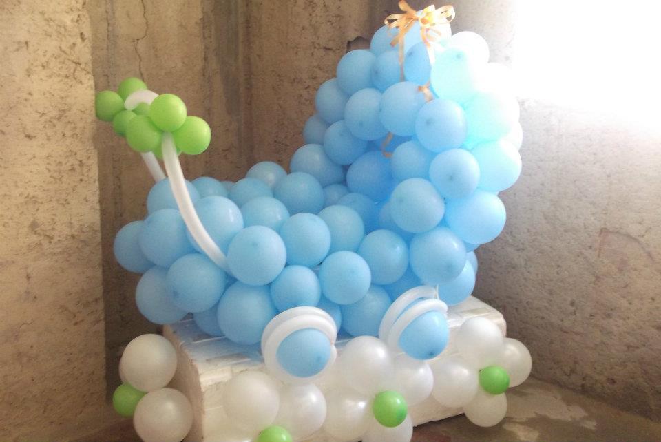 Decoraciones a tu gusto decoraciones a tu gusto - Decoracion con bombas para baby shower ...