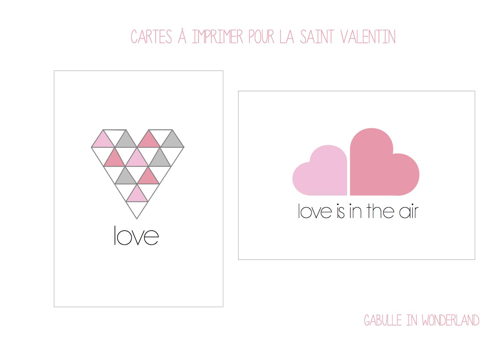 Gabulle in wonderland cartes imprimer pour la saint - Jolie carte st valentin gratuite ...