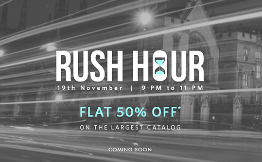 Myntra : Flat 50% off on largest catalog for 9 PM-11 PM Today only