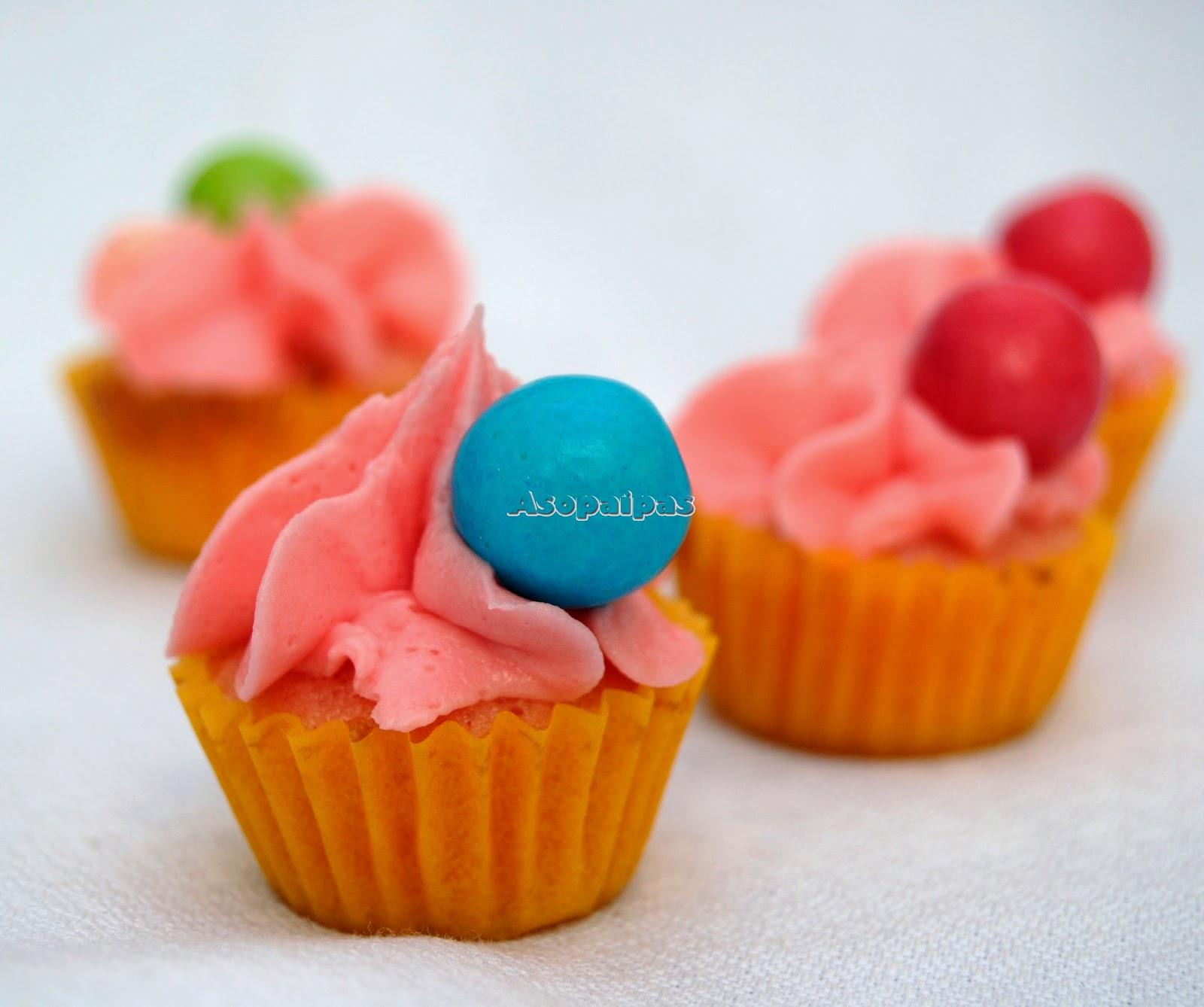 Cupcakes con Pasta de Chicle Caseros