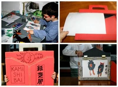 preparació kamishibai per explicar un conte