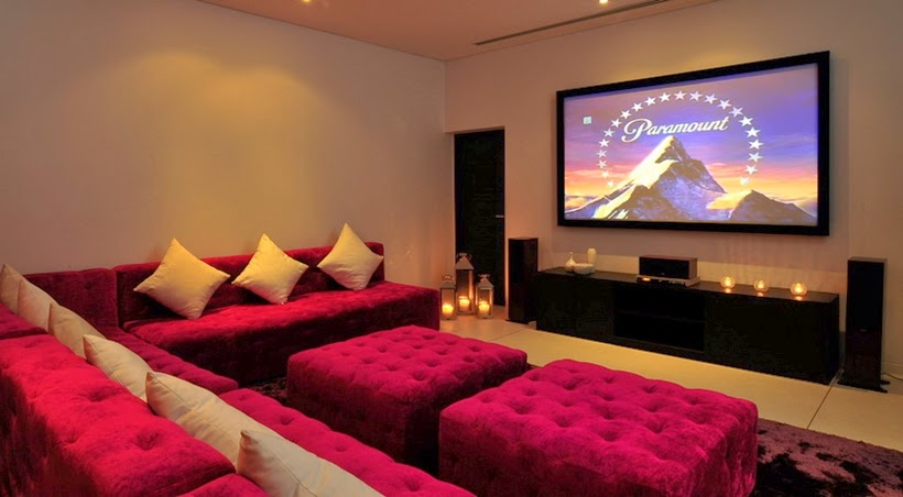 Home theater in Contemporary villa in Phuket, Thailand