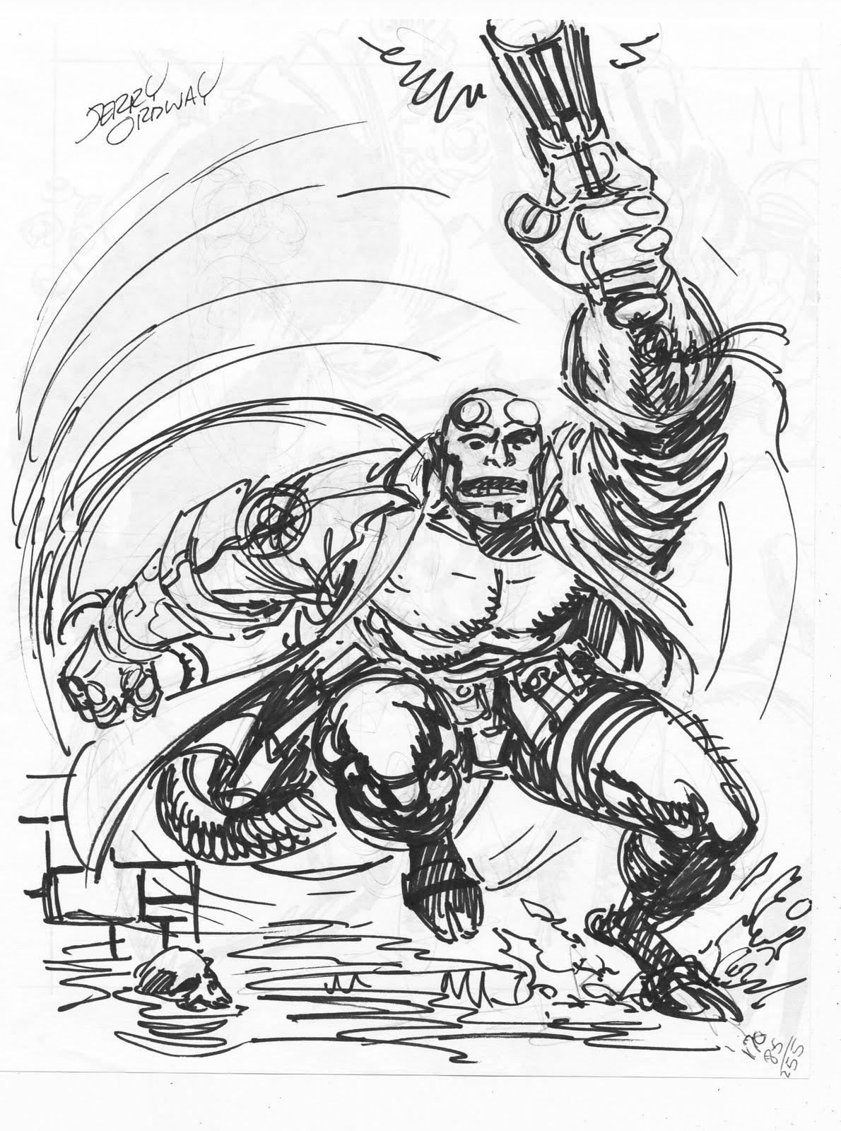 hellboy coloring pages - ordster 39 s random thoughts hellboy prelim