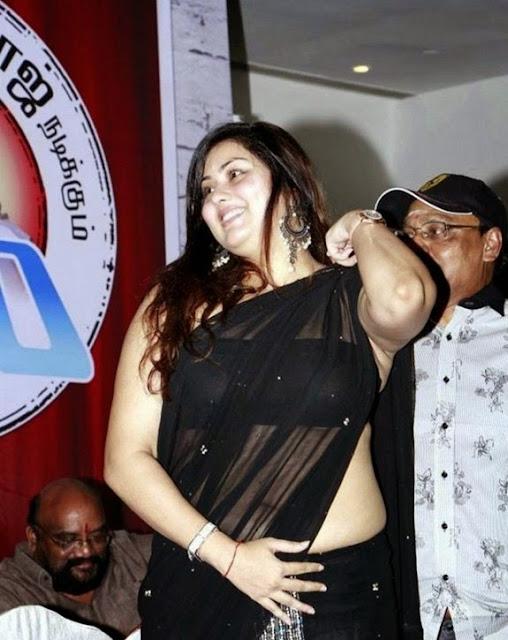 south sexy and beauty milf namitha black saree stills   nudesibhabhi.com