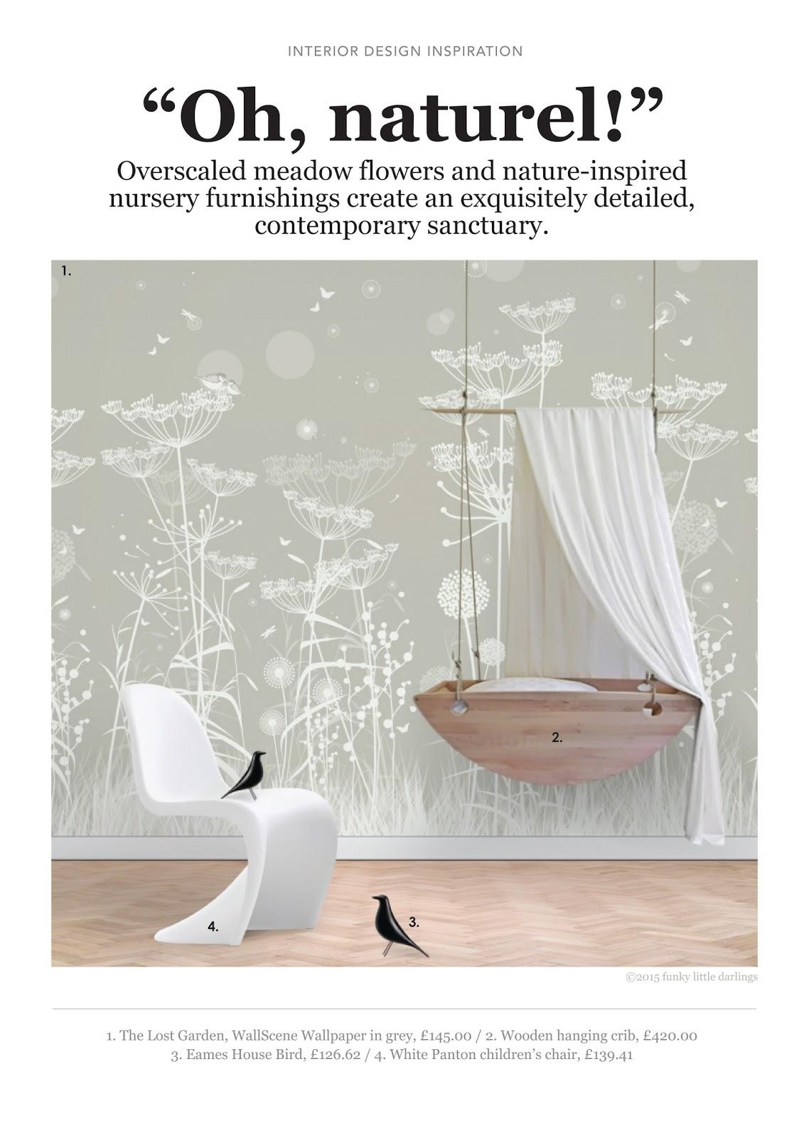 Nature Inspired Nursery Furnishings Mood Board