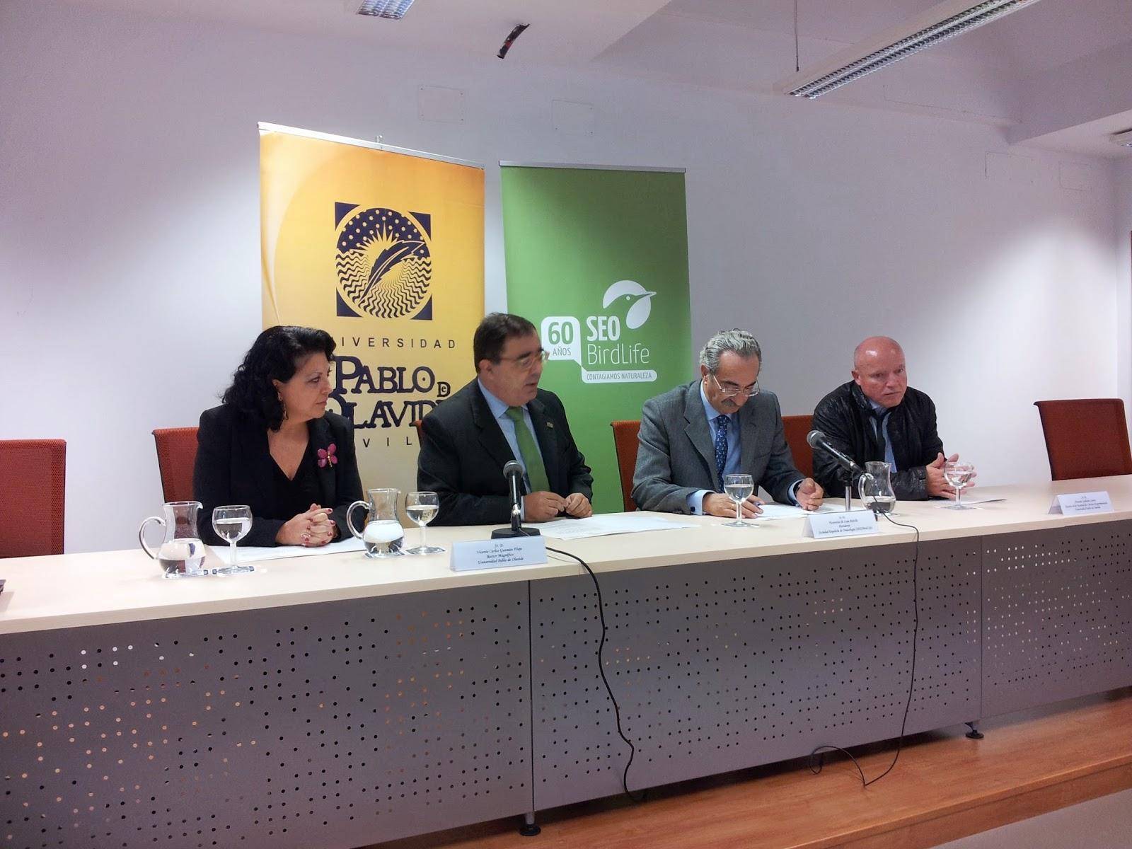 La Delegación Territorial de Andalucía de SEO/BirdLife se instala en la Universidad Pablo de Olavide