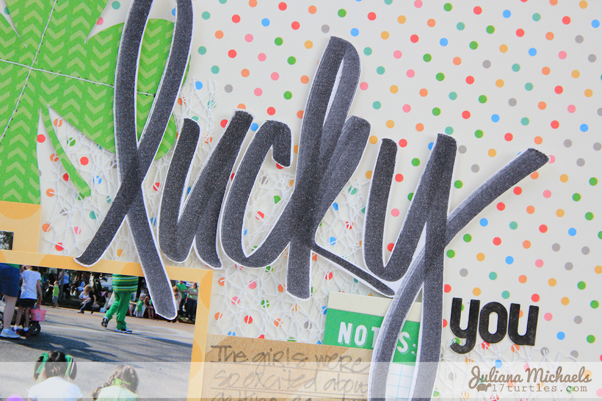 Detail 2 of Lucky You Scrapbook Page for Elle's Studio by Juliana Michaels