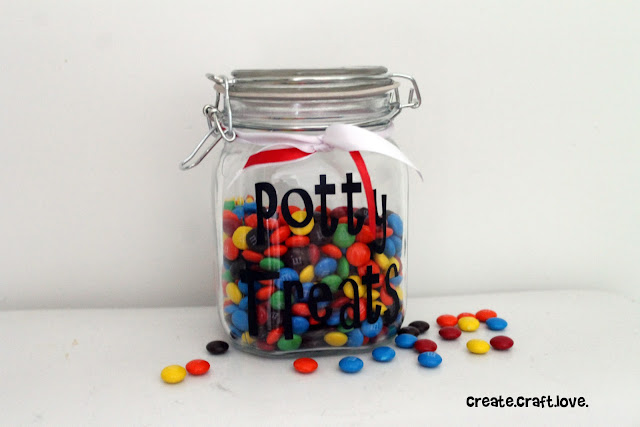 Potty Treats Jar via createcraftlove.com #vinyl #pottytraining