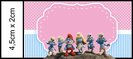 smurfs free printable candy bar labels for girls party