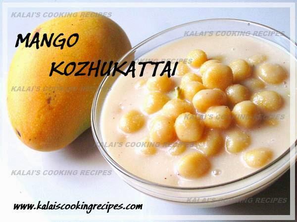 Coconut Milk Mango Kozhukattai | Thengai Pal Mambalam Kozhukattai