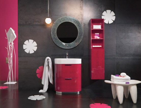 Sweet Pink bathrooms - azee