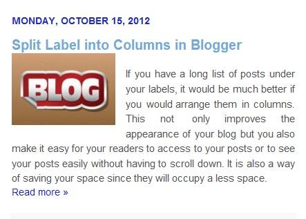 image blogger post