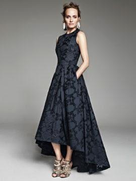 H&M Conscious Exclusive vestido largo negro