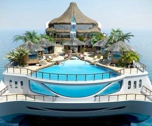 Tropical Island Paradise Yacht Nice Images