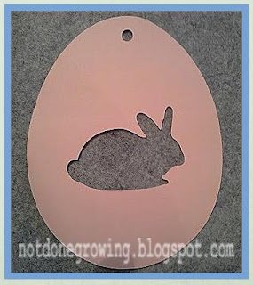 bunny egg silhouette cut out