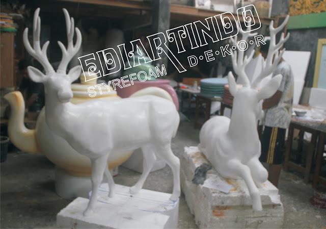 Pembuatan Patung Rusa Bahan Dasar styrefoam