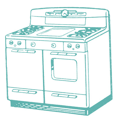 Free Downloads Vector - Cute Retro Stoves
