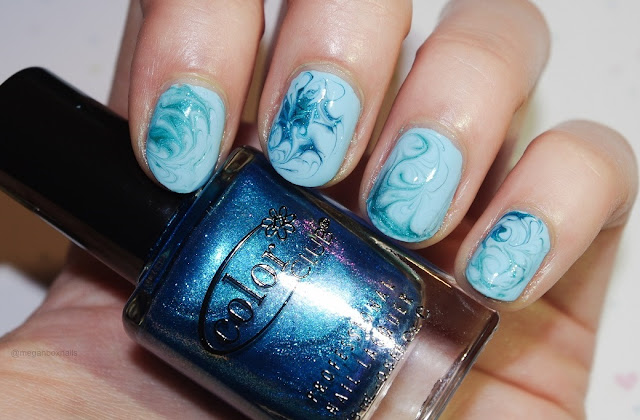 dry water marble nails image