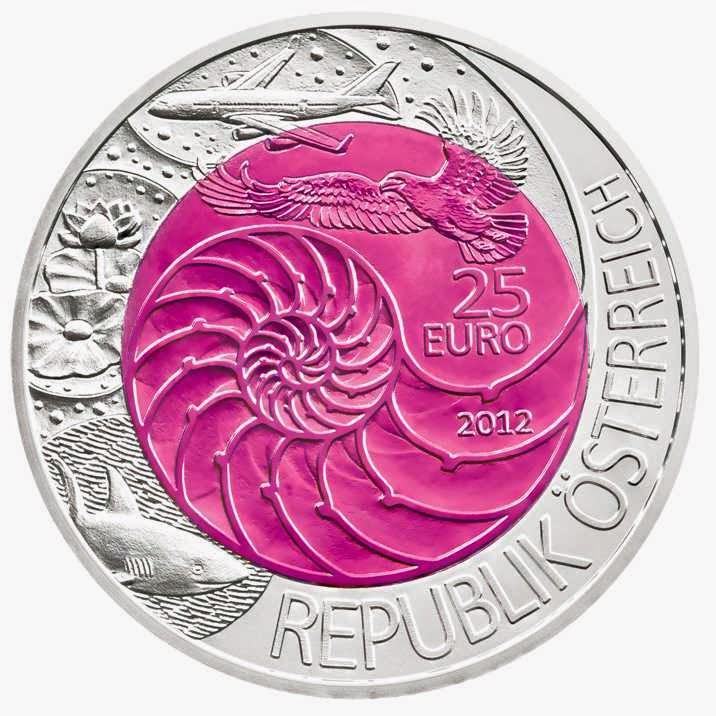 Austria 25 Euro Silver Niobium Coin 2012 Bionics
