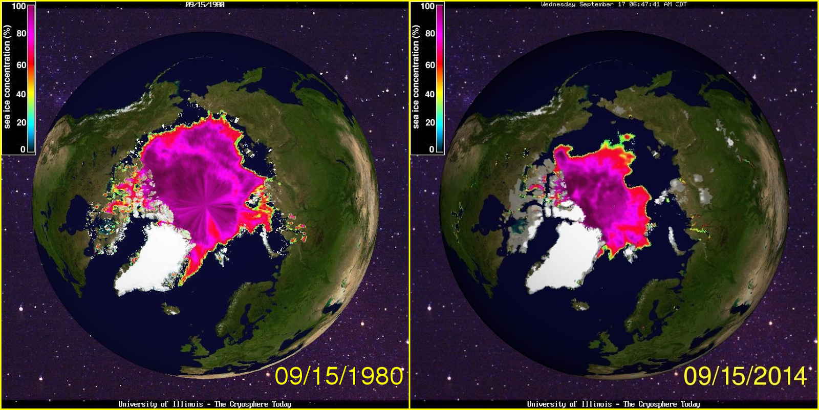 2014 Compare Arctic Ice