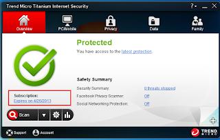 Trend Micro Titanium Antivirus - Protected