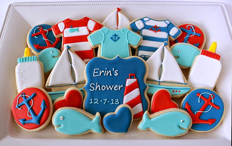 nautical cookie platter