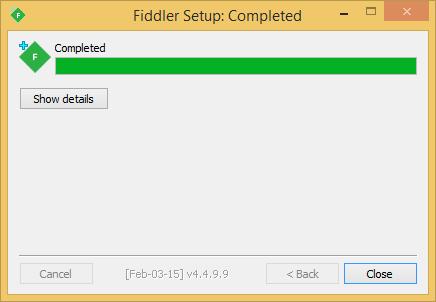 Fiddler Installation 4