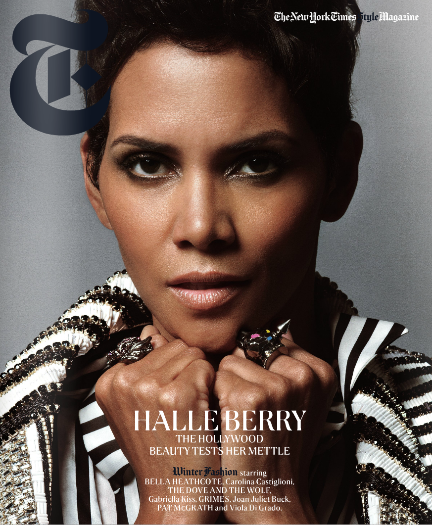 kiss my black ads halle berry covers new york times magazine. Black Bedroom Furniture Sets. Home Design Ideas