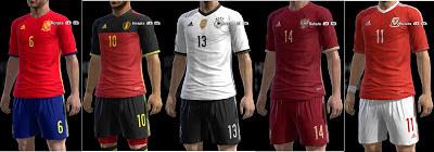 Update Euro 2016 Kits untuk PES 2013
